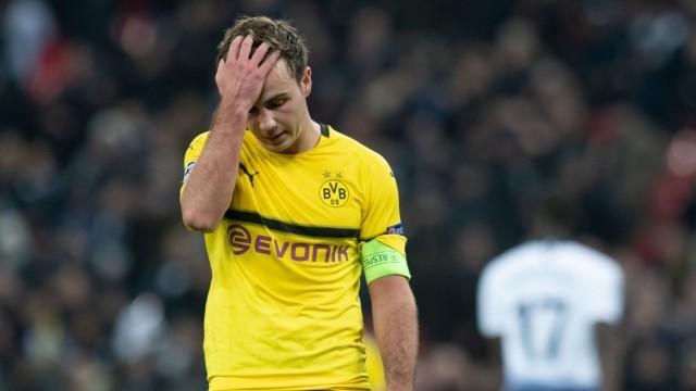 BVB-Stürmer Mario Götze im Champions-League-Spiel gegen Tottenham