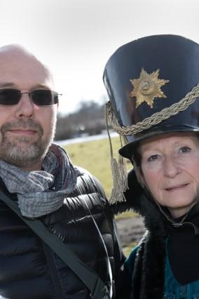 Warnstreik von Verdi vor Schloss Nymphenburg von Landesbeschäftigten