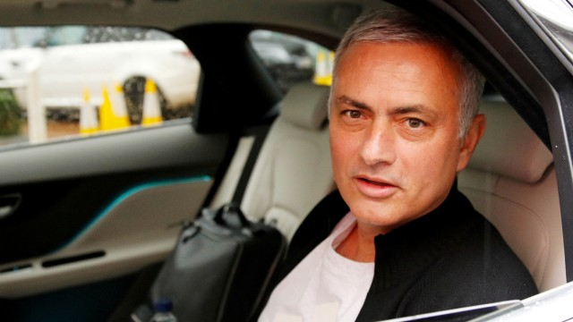 FILE PHOTO: Jose Mourinho is driven away from his accommodation after leaving his job as Manchester United's manager, in Manchester