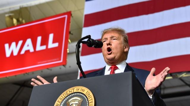 US-Präsident Donald Trump spricht 2019 in El Paso