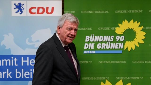 Der hessische Ministerpräsident Volker Bouffier (CDU) 2018 in Wiesbaden