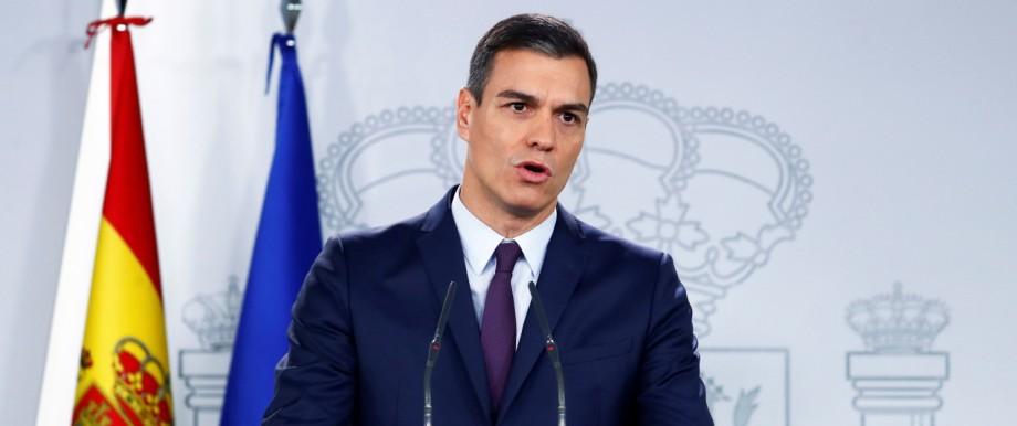 Spain's PM Sanchez holds a news conference in Madrid