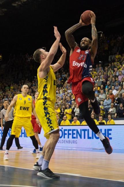 GER Basketball EWE Baskets Oldenburg vs FC Bayern Basketball 14 02 2019 EWE Arena Oldenburg