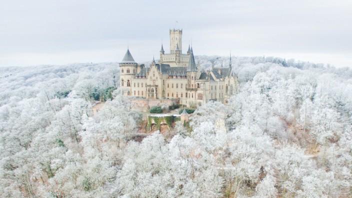 Schloss Marienburg im Winter