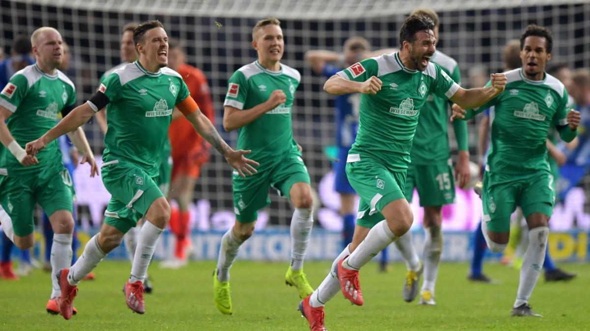 Werder Bremen: 96. Minute, Freistoß Pizarro - Tor!