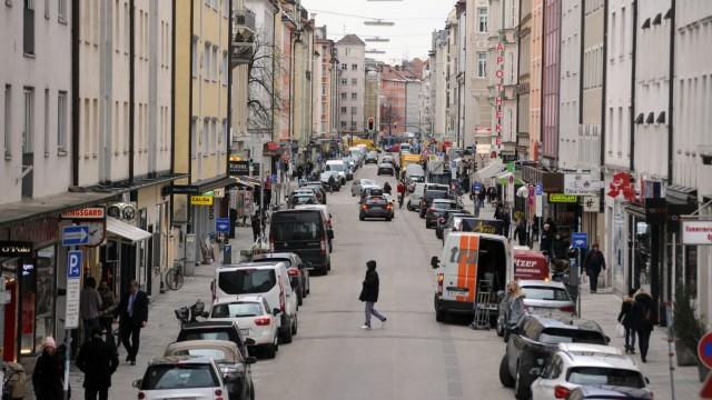Hohenzollernstraße in München, 2019