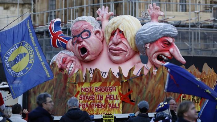 Brexit-Gegner zeigen ihren Unmut in London