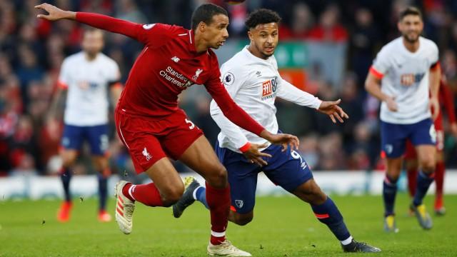 Premier League - Joel Matip vom FC Liverpool im Spiel gegen AFC Bournemouth