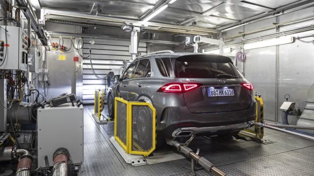 Daimler - Mercedes GLE beim Verbrauchstest