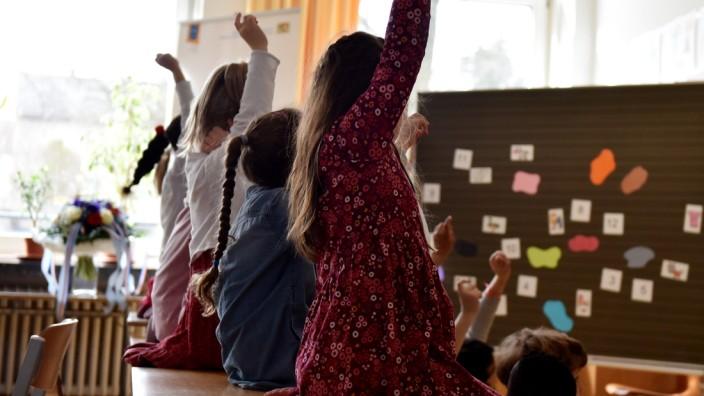 Kinder in einer Münchner Grundschule, 2018