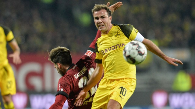BVB-Stürmer Mario Götze beim Bundesliga-Spiel in Nürnberg