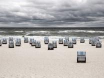 Strandkörbe am Strand von Kühlungsborn an der Ostsee