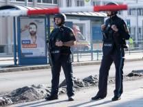 Schießerei München Baustelle Mariahilfplatz Polizei
