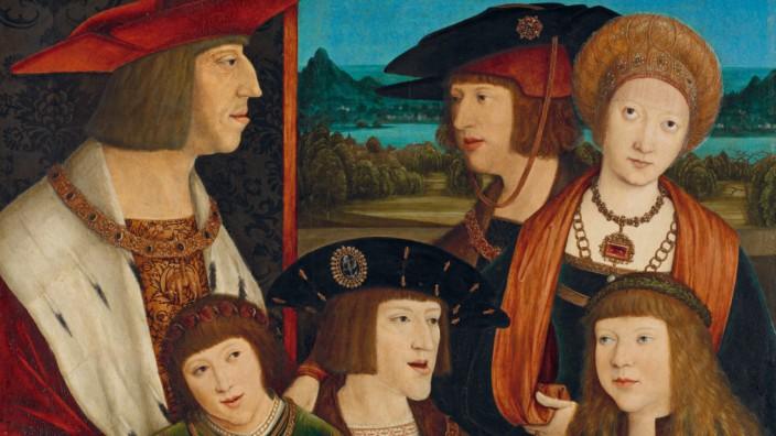 """Kaiser Maximilian und seiner Familie"""" (nach 1515) des Malers Bernhard Strigel"""
