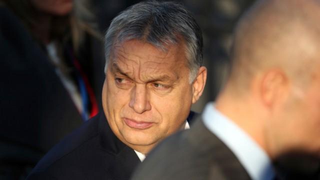 Ungarns Ministerpräsident Viktor Orban 2018 in Brüssel