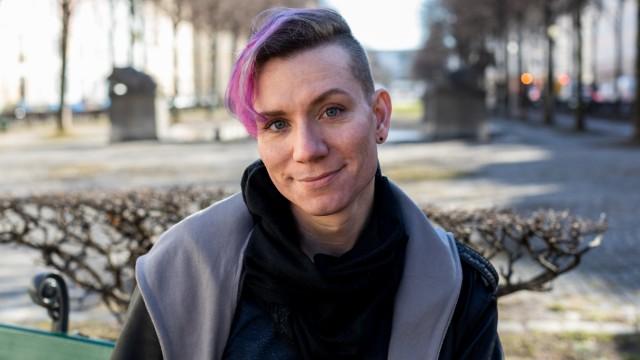 Ripley Flammer am 13.02.2019 auf dem Bordeauxplatz in München.