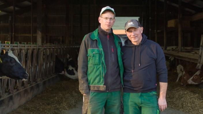 Der schwule Landwirt  Andreas Deyer (rechts) mit seinem Lebensgefährten  Jens Olaf Schieß.