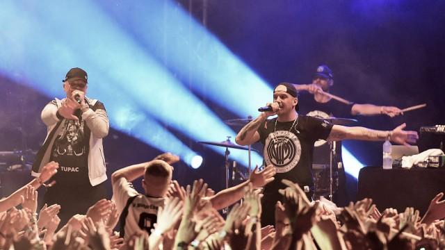 28 07 2017 xlakx Musik Helene Beach Festival emspor v l Im Bild Der Auftritt von Bonez MC St