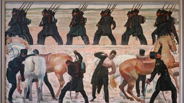 Gemälde 'Auszug deutscher Studenten in den Freiheitskrieg von 1813'