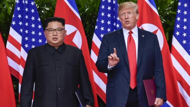 Donald Trump und Kim Jong-un 2018 in Singapur