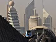 Metro in Dubai ; AP