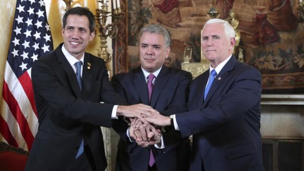 Mike Pence, Juan Guaido, Ivan Duque