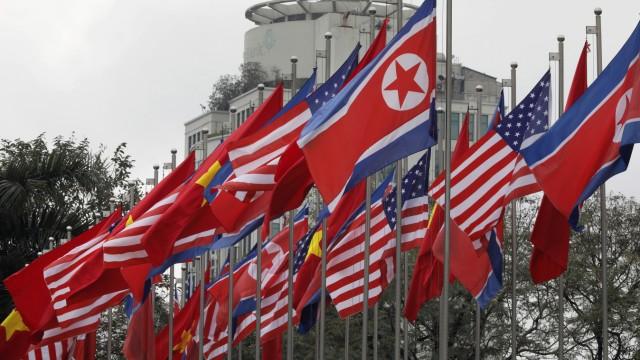 Vor dem Treffen von Trump und Kim  in Hanoi