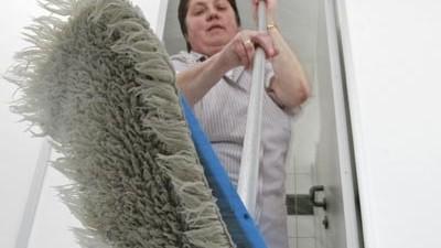 Putzfrau im Streik