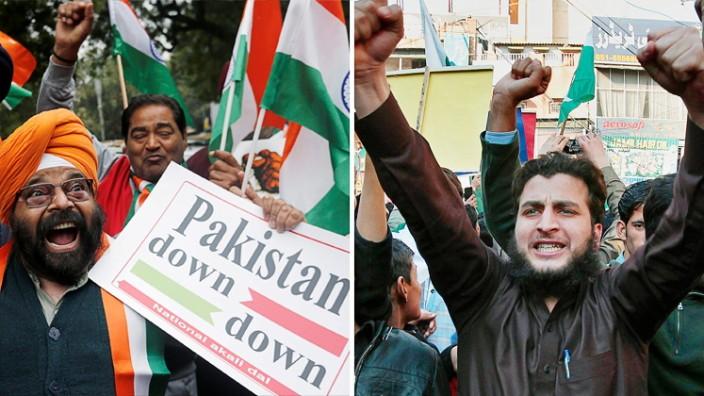 Kaschmir-Konflikt - Proteste in Indien und Pakistan
