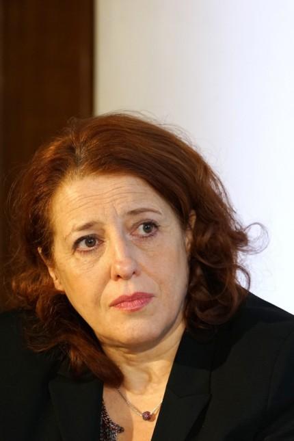 Luise Kinseher bei Pressekonferenz zur Salvatorprobe in München, 2018