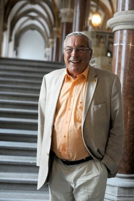 Walter Zöller im Rathaus in München, 2017