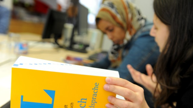 Lernhilfe für Migranten in München, 2018