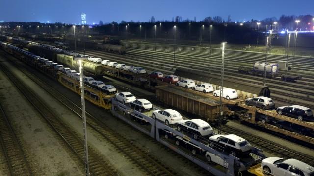 Der Güterbahnhof im Norden von München, 2013