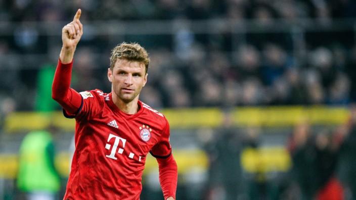 FC Bayern: Thomas Müller beim Spiel gegen Borussia Mönchengladbach