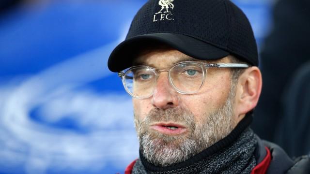 Sport Bilder des Tages Everton v Liverpool Premier League Goodison Park Liverpool manager Jurgen; Jürgen Klopp Liverpool