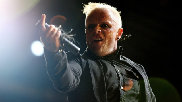 FILE PHOTO: British singer Keith Flint of techno group 'The Prodigy' performs during the first day of the Isle of Wight Festival