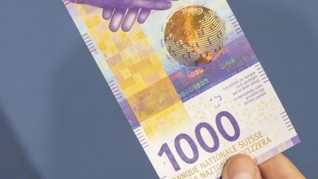 Neue 1000 Franken Banknote
