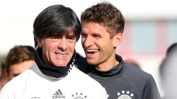 Germany - Training & Press Conference; Löw
