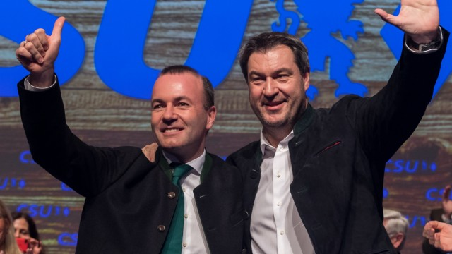 CSU Markus Söder Manfred Weber Europawahl