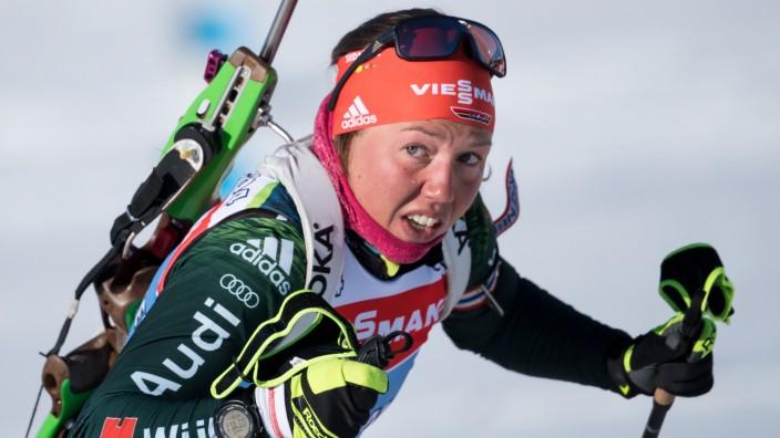 Biathlon - Laura Dahlmeier bei der WM in Östersund