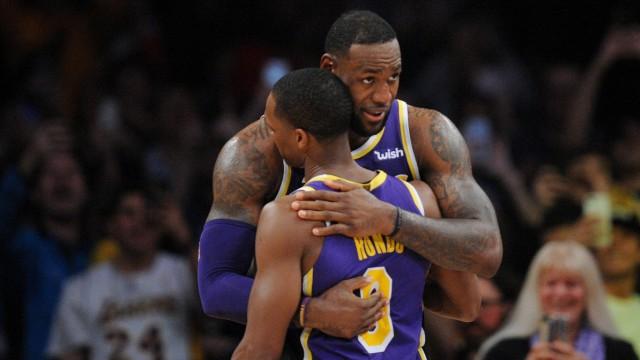 LeBron James von den Los Angeles Lakers 2019 beim NBA-Spiel gegen Denver Nuggets