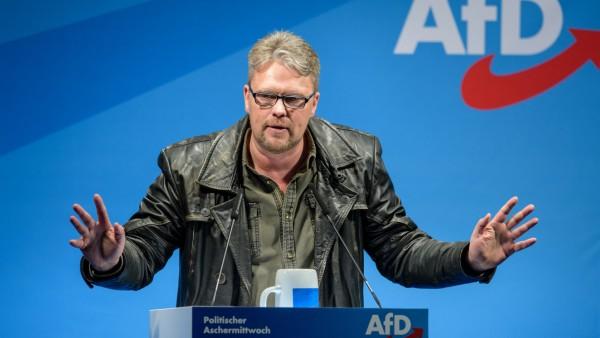 AfD-Politiker Guido Reil spricht beim Politischen Aschermittwoch 2019