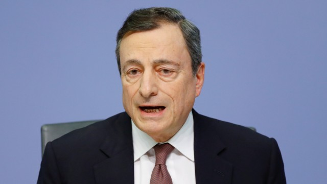 Mario Draghi, President of the European central Bank (ECB) attends a news conference on the outcome of the Governing Council meeting at the ECB headquarters in Frankfurt