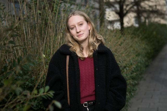 Sophia Kroidl, Sprecherin der Stadtschülerinnenvertretung irgendwo in der Clemensstraße