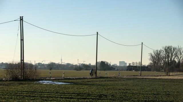 Ackerland am Stadtrand von München, 2019