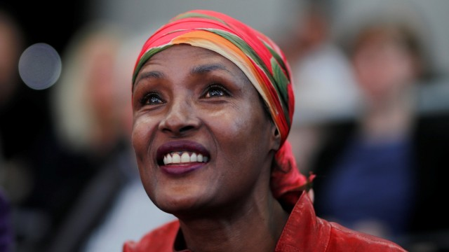Human rights activist and top model Dirie smiles as she attends a news conference to announce the musical project 'Desert Flower' in St. Gallen