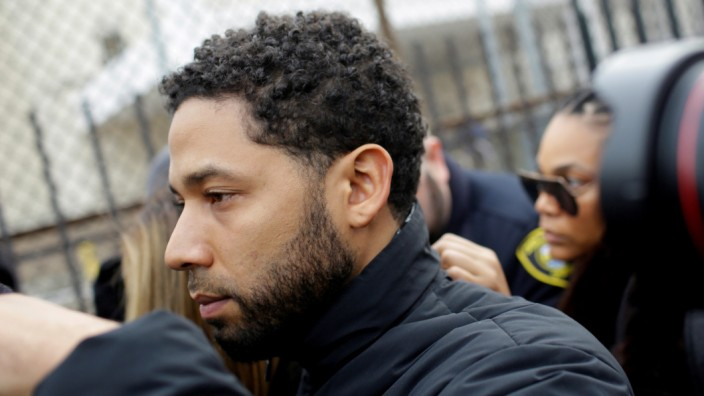 FILE PHOTO: Jussie Smollett  exits Cook County Department of Corrections after posting bail in Chicago