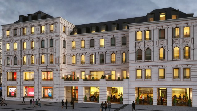 Freizeit in München und Bayern Bauprojekt in der Innenstadt