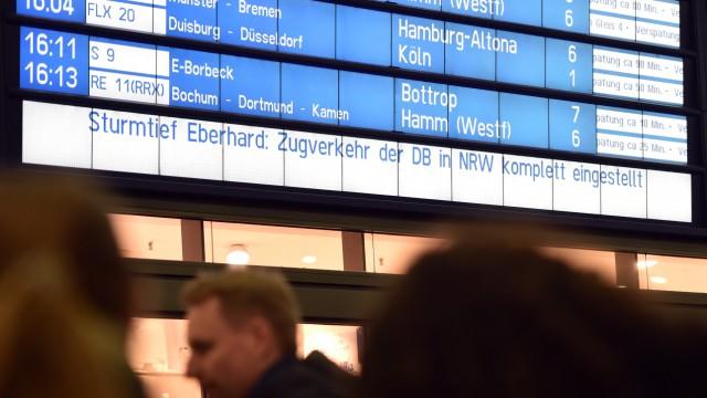 Sturmtief Eberhard in NRW