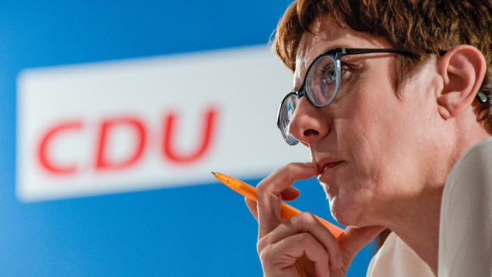 CDU-Vorsitzende Annegret Kramp-Karrenbauer 2018 in Hamburg